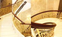 帝王铜艺楼梯 旋转楼梯