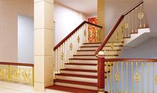 帝王铜艺楼梯 L型楼梯
