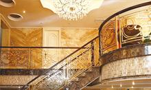 帝王铜艺楼梯 弧形楼梯