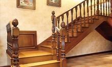 帝王L型楼梯 实木楼梯