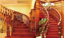 帝王弧形楼梯 实木楼梯